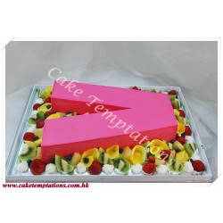 letter v celebration cake 1 4 startstop