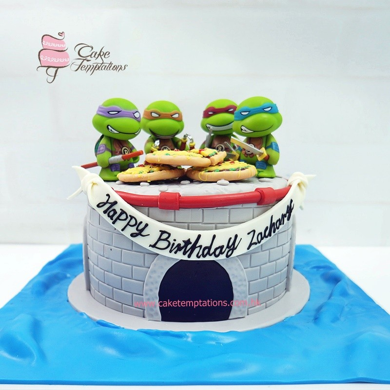 TMNT Cute Ninja Turtle Cake - Cartoon