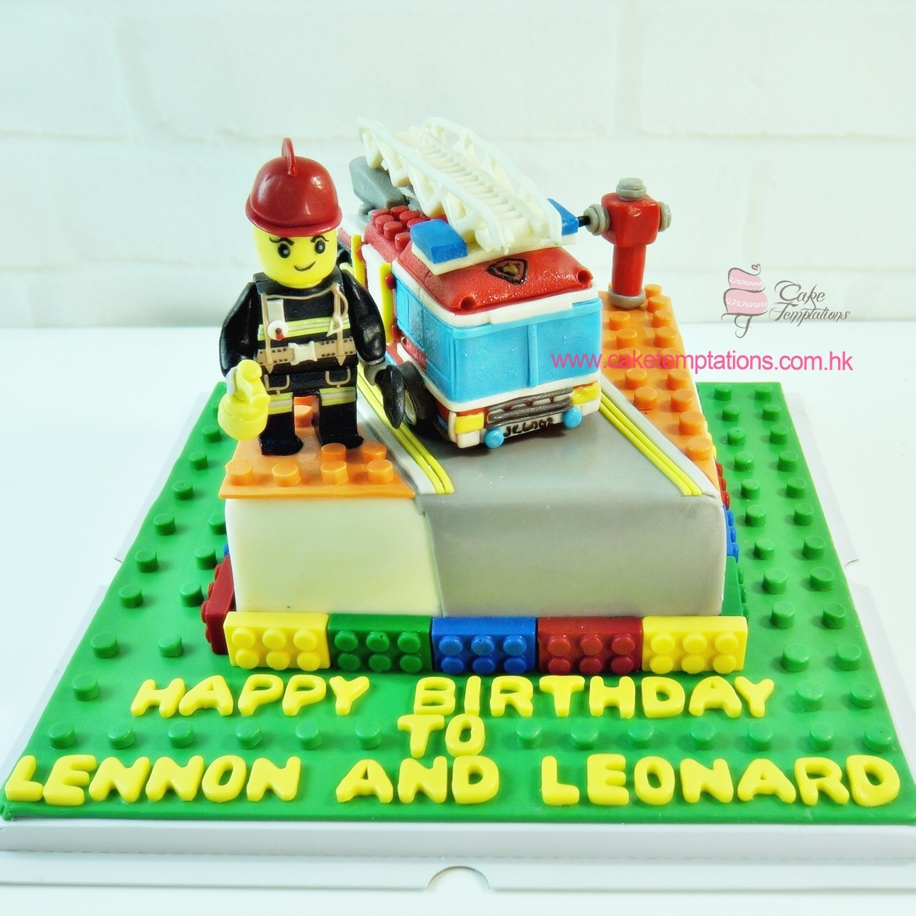 Mini Lego Fire Engine Cake Lego Western Cartoon Lego Movie