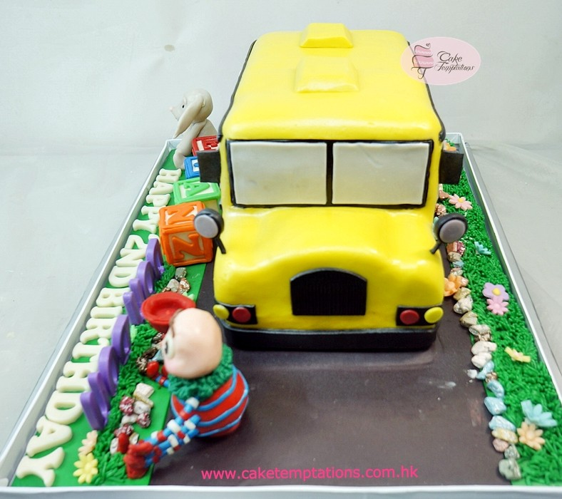 3d School Bus Cake Bus Transportation Sports Transportation