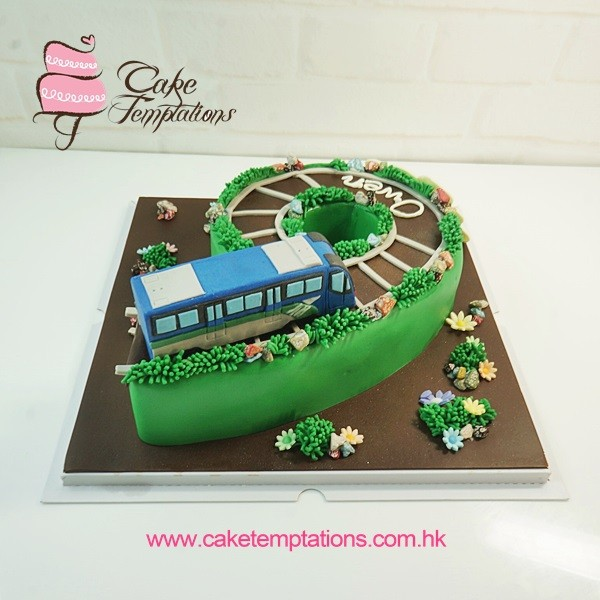 Shaped No6 Cake With 3d Airport Express Airplane Transportation