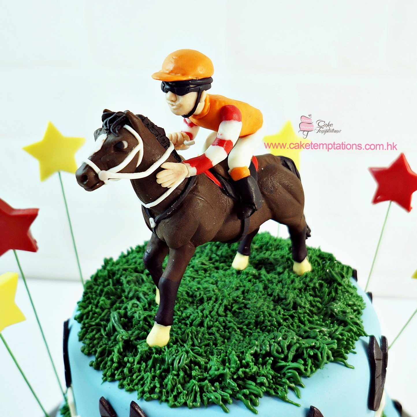 3d Horse Racing Course Cake Wealth Gamble
