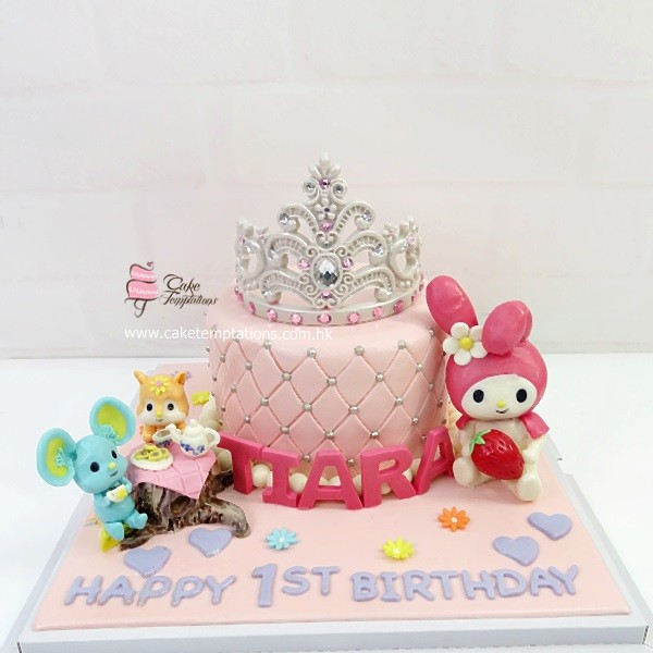My Melody Tiara Birthday Cake Princess Castle Fairy