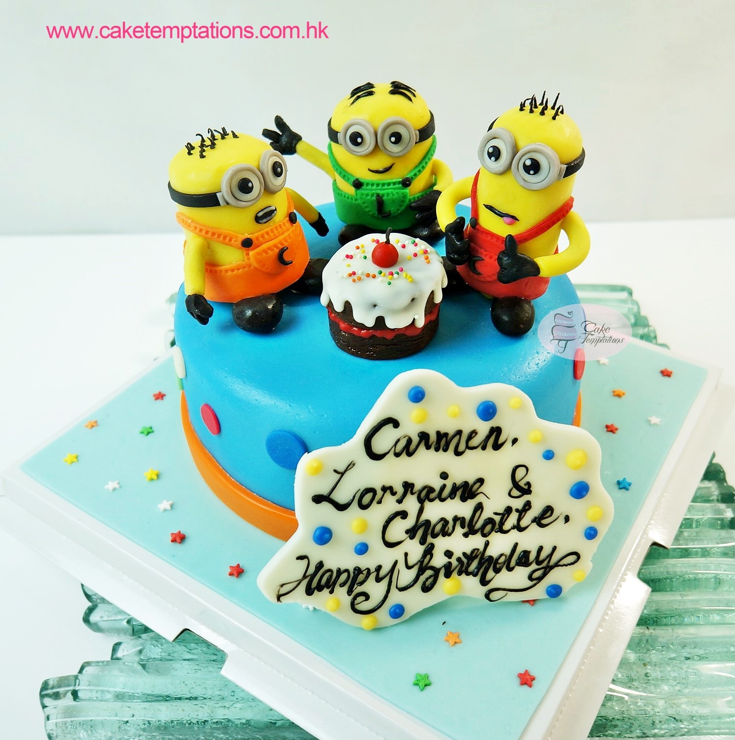 Minion Friends Birthday Cake 3 Days Urgent Order Simple Design