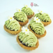 Mini Green Tea Red Bean Cheese Tartlets