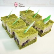 Mini Green Tea Red Bean Cake