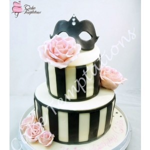 2 Layer Chic Masquerade Cake