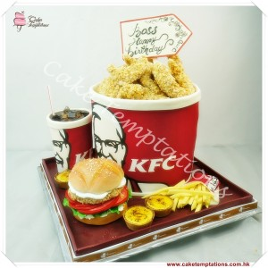 KFC Chicken Box 3D Cake