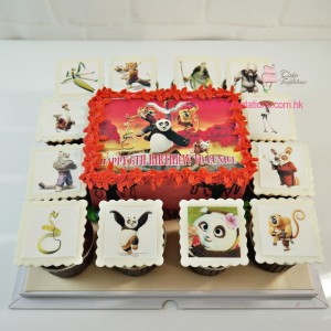 Kung Fu Panda Cartoon Cupcakes Set