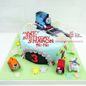 Thomas  the train figures cake