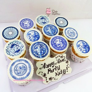 Cloisonne photo cupcakes