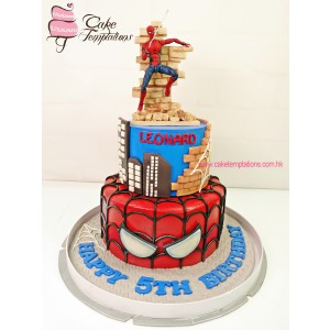 Disney Marvel Spider-man crawling cake