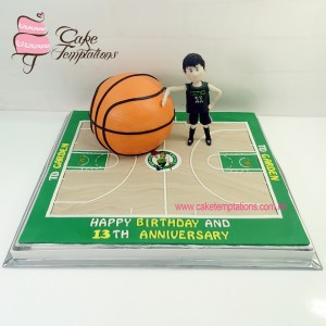 3D Basketball Field Cake