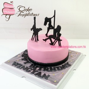 Pole dance design cake