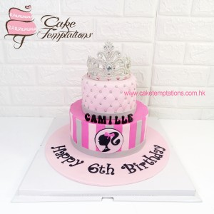 2 Layers Barbie Design Cake