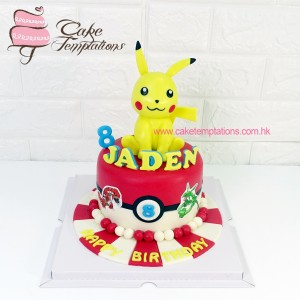 3D Pokemon Pikachu Photo Cake