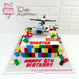 3D Lego Helicopter Cake