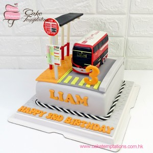 KMB Mini Red Bus cake