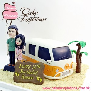 Cute bus w. Harry Styles & Fan 3D Cake