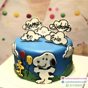 Happy Snoopy Cake