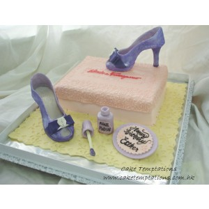 3D Salvatore Ferragamo High Heels Cake