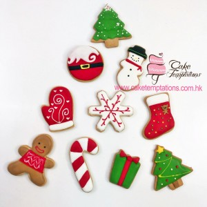 Xmas assorted icing cookies
