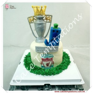 Liverpool logo with Mr. Grumpy Birthday Cake