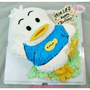 3D Pekkle Duck Birthday Cake