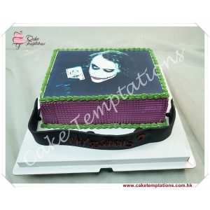 Photo Print - Batman Joker Cake