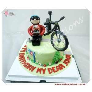 Bicycle w. Boy Cake
