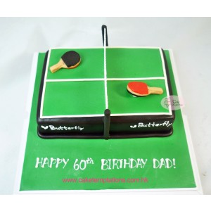 3D Table Tennis Cake