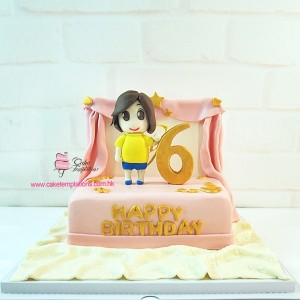 Little girl birthday stage