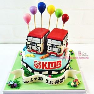 KMB mini cute bus cake
