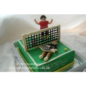 Winner & Loser Tennis Cake