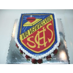 School Badge Cake
