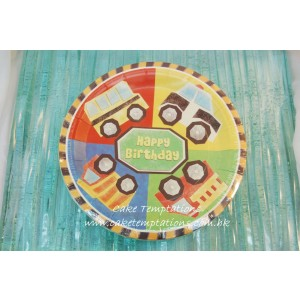 Toy Car Paper Plate