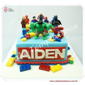 LEGO & Super Hero Birthday Cake