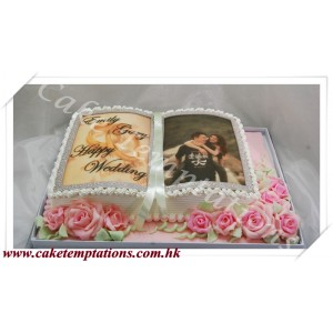 Book of Love Cake