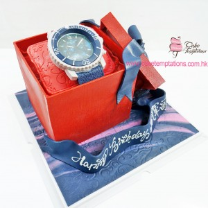 3D Watch Case Cake