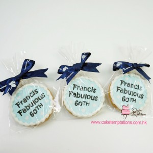 Mini photo gift cookies