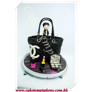 3D Chanel Bag - Make Up Accessories & Human Figure Cake