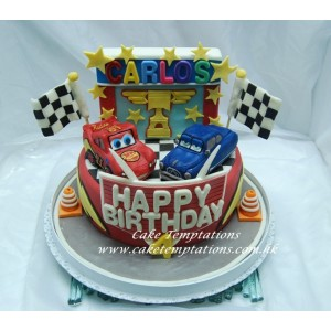 Mcqueen Car's Birthday Party Cake