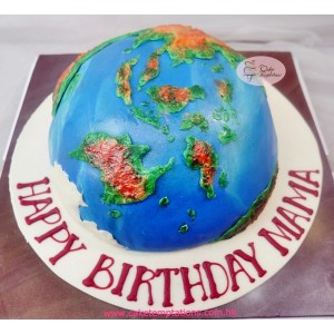 3D Tellurion Cake w. North & South Pole