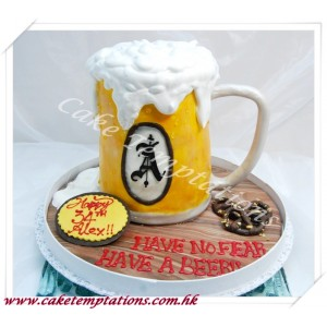 3D Foaming Beer Mug Cake