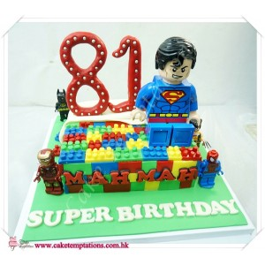 LEGO Super Hero Birthday Cake