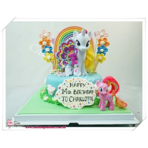 My Little Pony Rainbow Flower Garden Cake