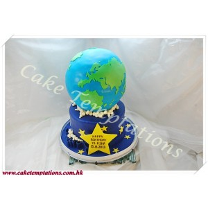 Earth 3D Cake