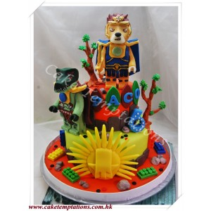 2 Layers 3D LEGO Legends Of Chima Cake