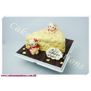 3D Cheese Slice Cake w. Hello Kitty