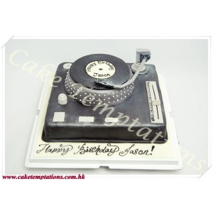 3D Retro record player Cake